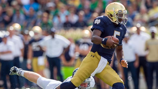 Notre Dame whips Rice with QB Golson back in fold
