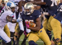 Notre Dame outscores North Carolina in wild one