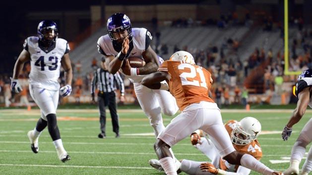 No. 5 TCU soars over evolving Texas 48-10