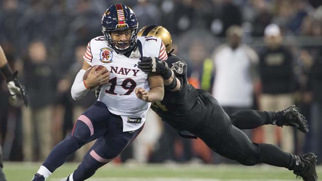 Navy holds off Army for 14th straight win in series