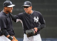 Rodriguez enjoys first day in Yankees' camp