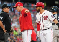 Nats Harper tossed for the second time in eight days