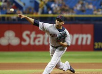 Carrasco almost no-hits Rays as Tribe wins again