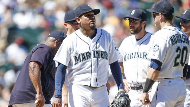 Mariners' Hernandez blinded by light of day