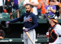Markakis gets warm welcome in return to Baltimore